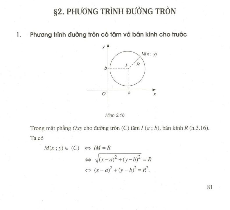 Phương trình đường tròn