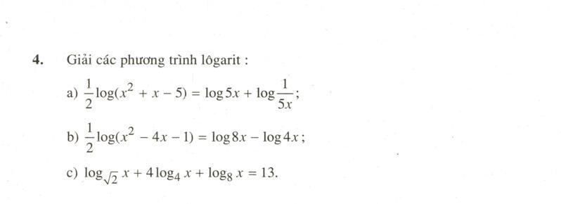 Phương trình mũ và phương trình lôgarit