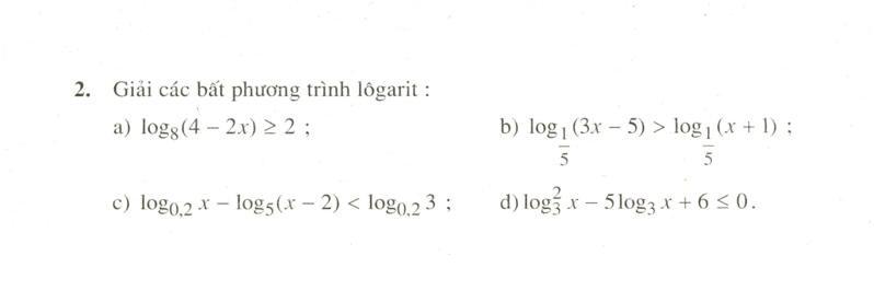 Bất phương trình mũ và bất phương trình lôgarit
